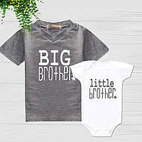 """Парные футболки с принтом """"Старший и младший брат"""" Push IT"""