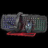 Игровой набор XTRIKE ME CM-406 4в1 (мышь, клавиатура, гарнитура, коврик) черный