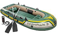 Надувная лодка Intex 68380 Seahawk 3 Set, 295 х 137 х 43 см, с веслами и насосом