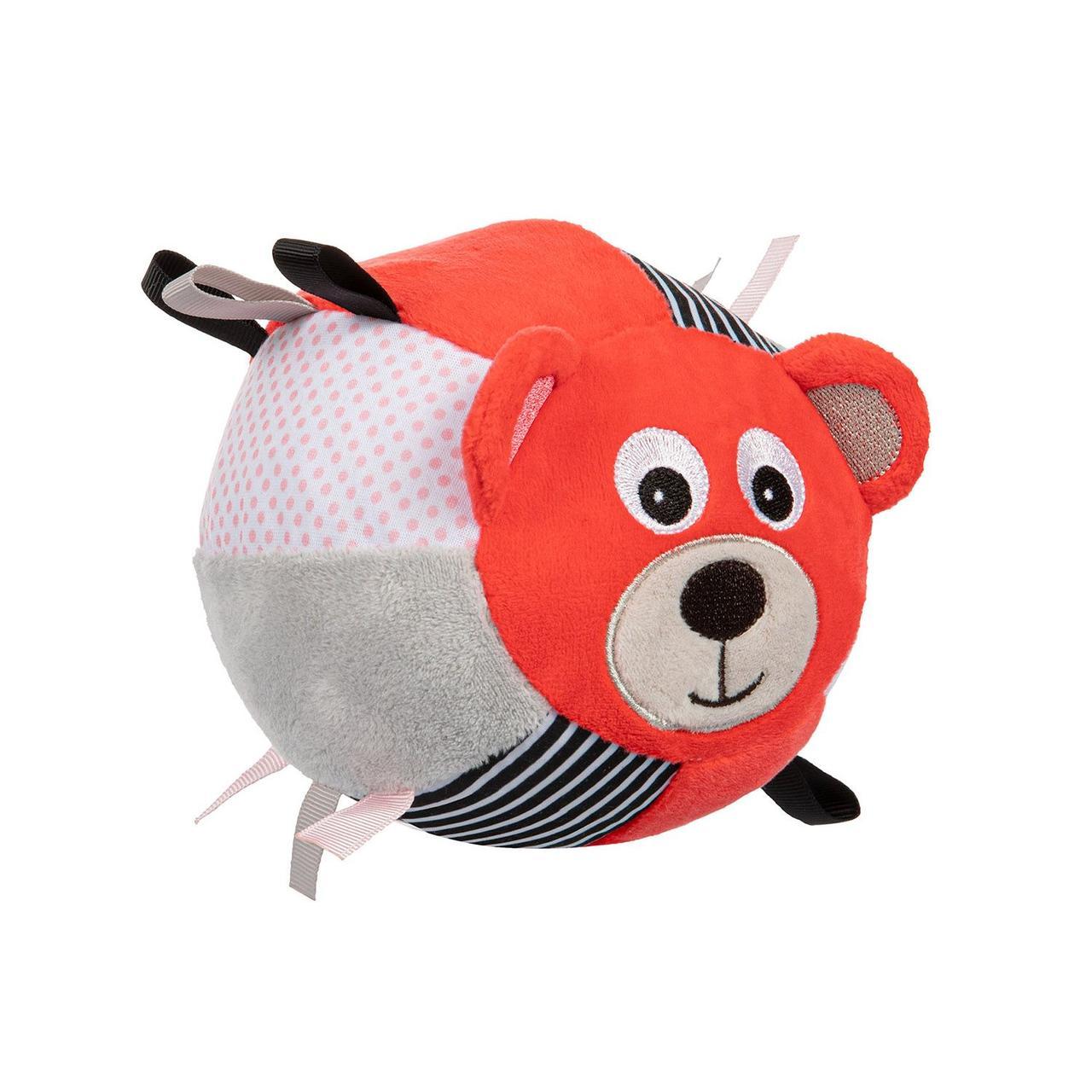 Іграшка-м'ячик м'яка з дзвоником BEARS - коралова Canpol babies 68/074_cor