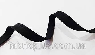 Кант встрочной хлопковый 12 мм черный