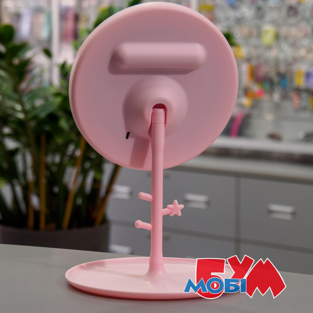 Selfie L2 LED Mirror Pink Аккумулятор Светодиодная Настольное Обычная