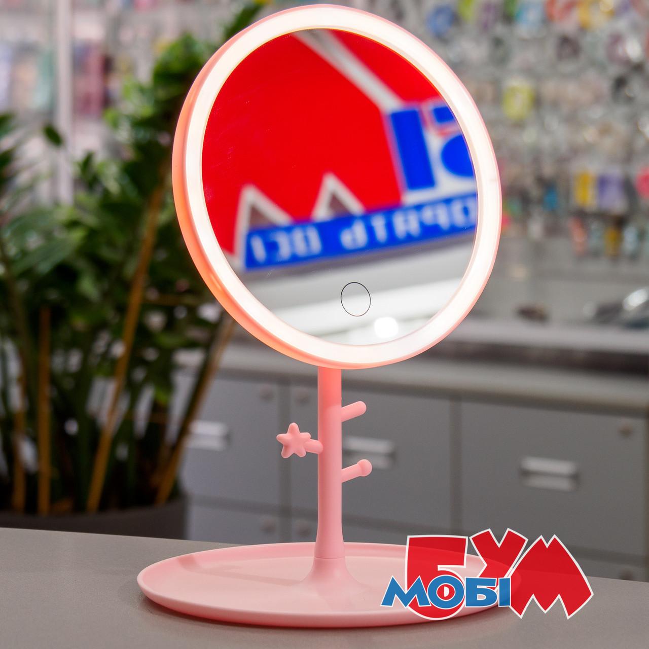 Selfie L2 LED Mirror Pink Аккумулятор Светодиодная Настольное Обычная Круглое Розовый