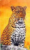 Пляжное полотенце Леопард на дереве