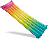 """Надувний матрац """"Веселка"""" Rainbow Ombre Mat 170х53 см, Іntex (58721), фото 1"""