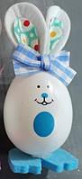 """Декор з пластика """" Яйця - кролики """" ВД-8 голубий"""