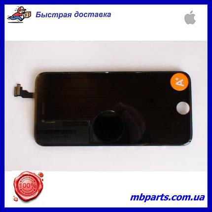 """Дисплей iPhone 6 (4.7"""") Black, оригінал з рамкою (відновлене скло), фото 2"""