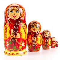 Матрешка 5 кук. Цветочная (12,5см), фото 1