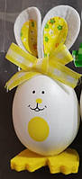 """Декор з пластика """" Яйця - кролики """" ВД-9 жовтий"""
