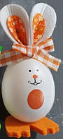 """Декор з пластика """" Яйця - кролики """" ВД-11 оранжевий"""