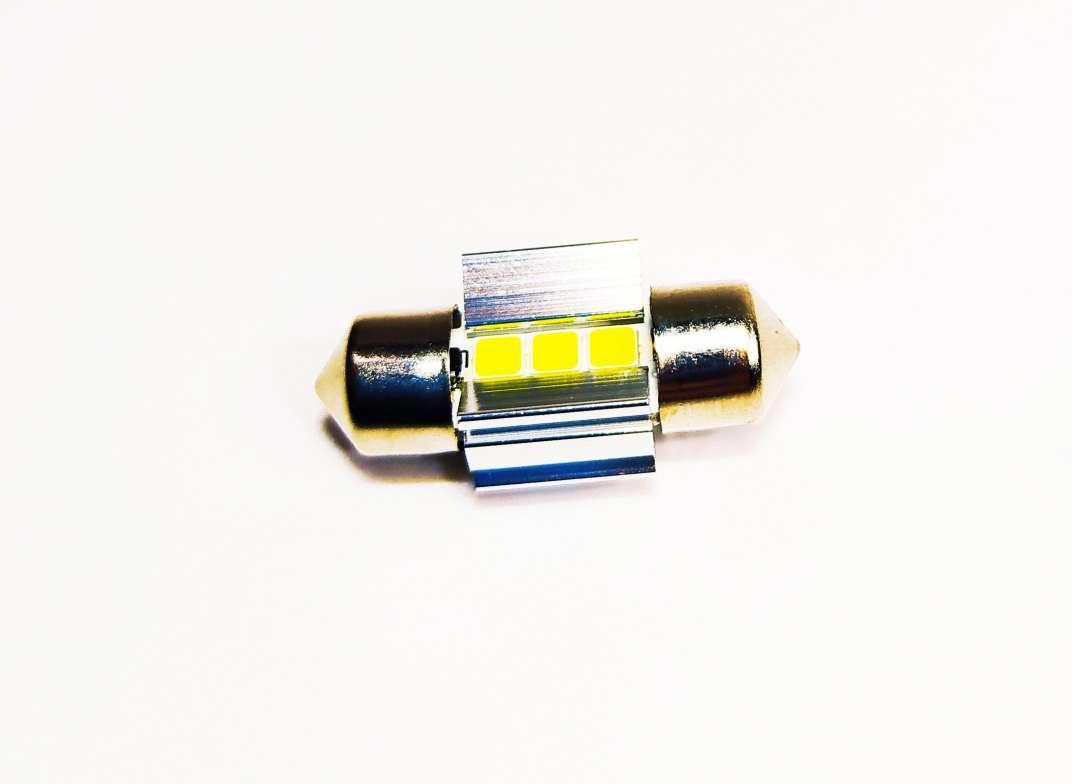 Автолампи LED C5W, SMD3030, CANBUS, 28 мм білий