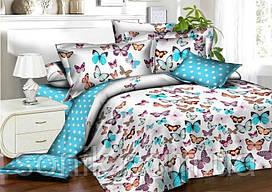 Комплект постельного белья Бабочки   Двуспальный   Бязь Gold Lux