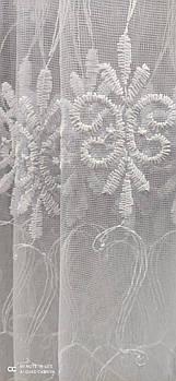 Тюль фатиновая в белом цвете, высота 1,6м ( 872 )