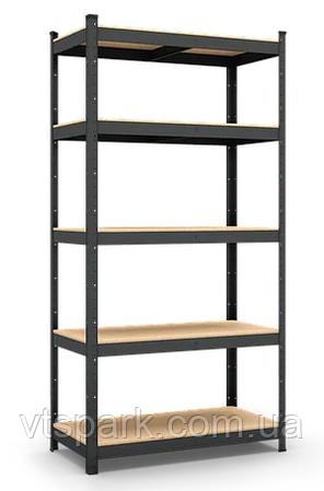 Стеллаж полочный 1800х900х600мм, 150кг, 5 полок с ДСП/МДФ крашеный для магазина, балкона, кладовки
