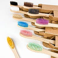 Набор бамбуковых зубных щеток из 10 штук в комплекте
