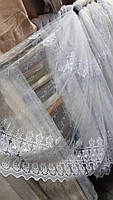 Тюль коротка на метраж біла, висота 1,6 м ( 876), фото 4