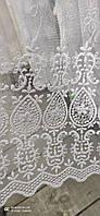 Тюль коротка на метраж біла, висота 1,6 м ( 876), фото 5