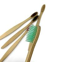Бамбуковая зубная щетка из натурального ворса - бирюзовая