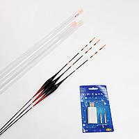 Набор с 3-х умных LED поплавков + зарядка, цвет черно-красный
