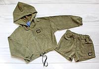 Прогулочный костюм с шортами для девочек 8-14 лет, детский подростковый, фото 1