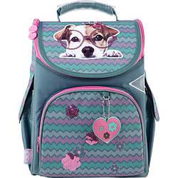 Рюкзак шкільний каркасний GoPack Education Sweet puppy Бірюзовий (GO21-5001S-3)