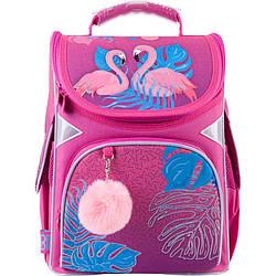 Рюкзак GoPack Education каркасний Pink flamingoes 34x26x13 11 л рожевий (GO21-5001S-4)