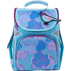Рюкзак шкільний каркасний GoPack Education Blue bird Бірюзовий (GO21-5001S-5)