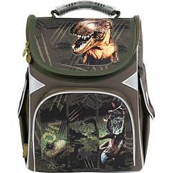Рюкзак шкільний каркасний GoPack Education Dinosaurs Хакі (GO21-5001S-14)