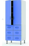 Шкаф комбинированный двухстворчатый с 6-ю ящиками Праймед