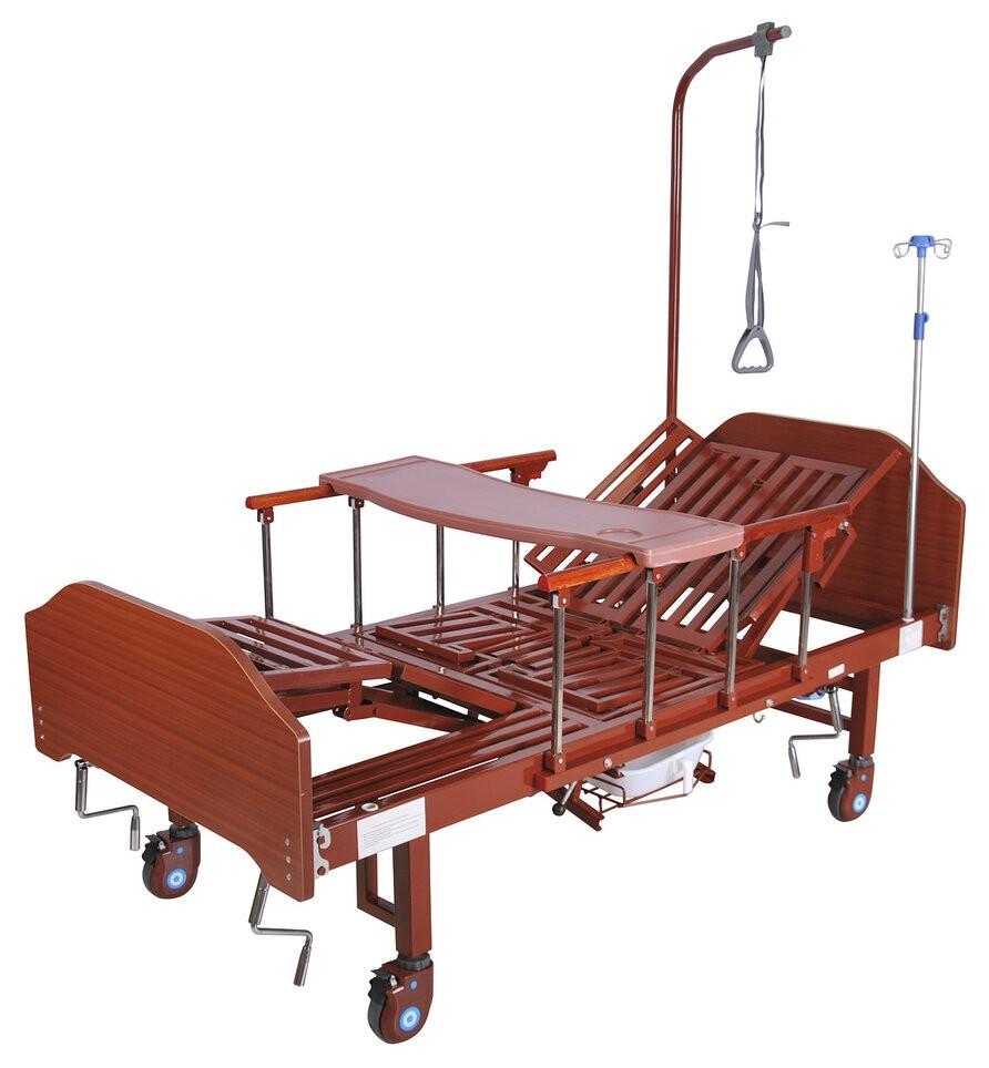 Ліжко механічна YG-5 Праймед з боковим перевертанням, туалетним пристроєм і функцією «кардиокресло»