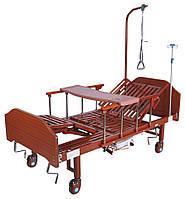 Ліжко механічна YG-5 Праймед з боковим перевертанням, туалетним пристроєм і функцією «кардиокресло», фото 1