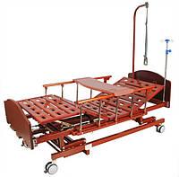 Ліжко механічна E-31 Праймед (3 функції) з ростоматом і полицею, фото 1