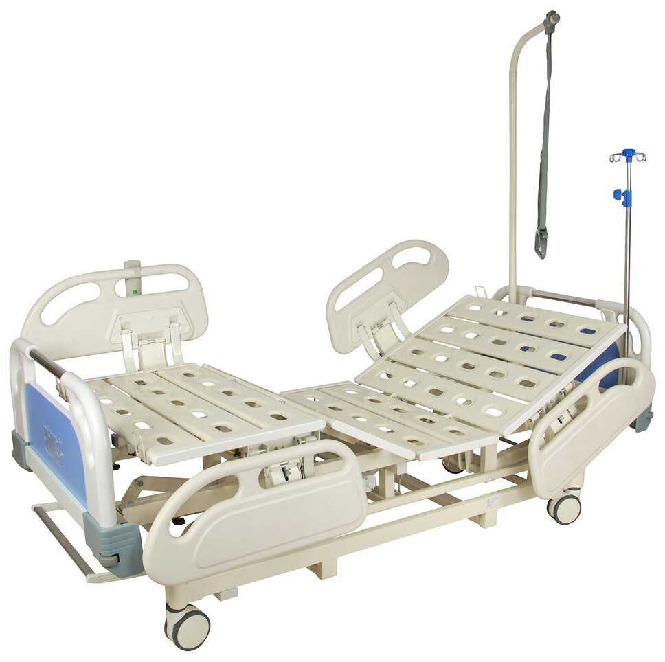 Ліжко електрична DB-3 Праймед (5 функцій) з висувним ложементом і ростоматом CPR+акумулятор з