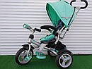 Дитячий триколісний велосипед-коляска CROSSER T 503 AIR WHEEL бірюзовий, фото 2