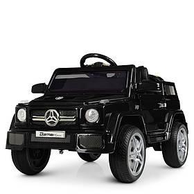 Дитячий електромобіль Mercedes (2 мотора за 25W, 2 акум, МР3,USB) Джип Bambi M 2788EBLRS-2 Чорний
