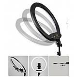 Кольцевая LED лампа K18-450CW 45см без штатива с держателем для телефона. Кольцевой свет для селфи и фото, фото 4