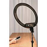 Кольцевая LED лампа K18-450CW 45см без штатива с держателем для телефона. Кольцевой свет для селфи и фото, фото 5