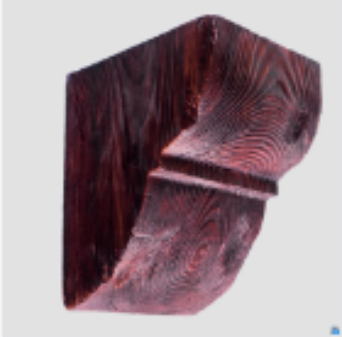 Консоль  EQ 017 classic червона 6х9 , лепний декор із поліуретану