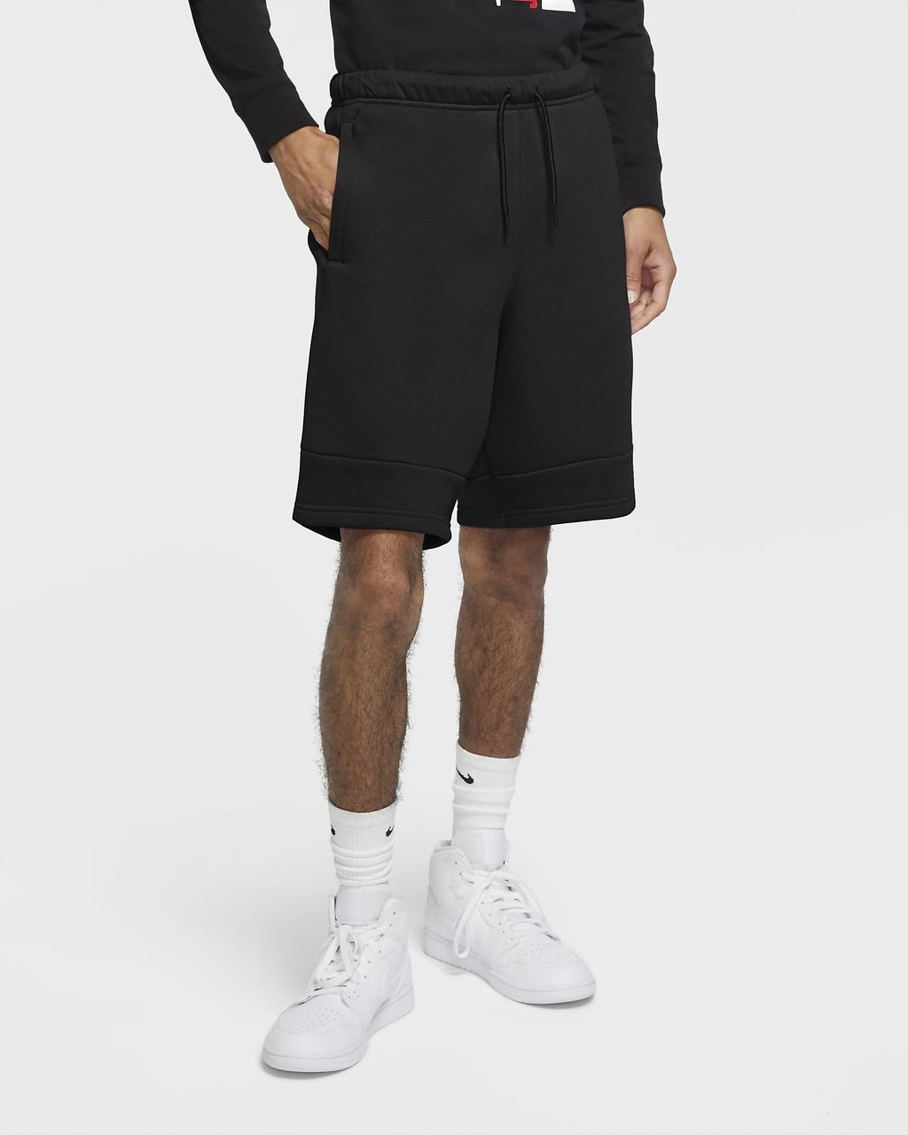 Шорты Jordan Jumpman Air Men's Fleece Shorts CK6707-010 Черный