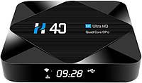 Приставка Topsion TV-BOX H40 | 4/64 GB | Allwinner H616 | Android TV Box, фото 1