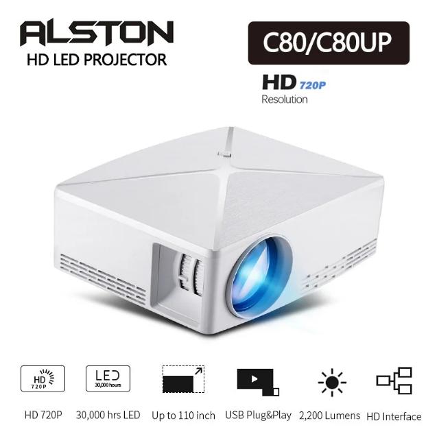 Мультимедійний проектор С80UP WiFi портативний проектор для домашнього кінотеатру міні проектор