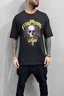 Мужская футболка оверсайз Black Island ada1198 black