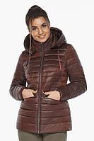 Куртка Braggart с брендовой фурнитурой каштановая женская осенне-весенняя модель 63045