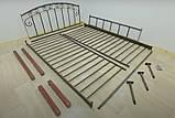 Металлическая кровать Афина на деревянных ножках, фото 4