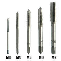 Набор из 5 метчиков для нарезания внутренней резьбы M3 M4 M5 M6 M8, 101044