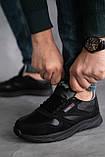 Мужские кроссовки кожаные весна/осень черные-нубук, фото 3