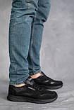 Мужские кроссовки кожаные весна/осень черные-нубук, фото 2