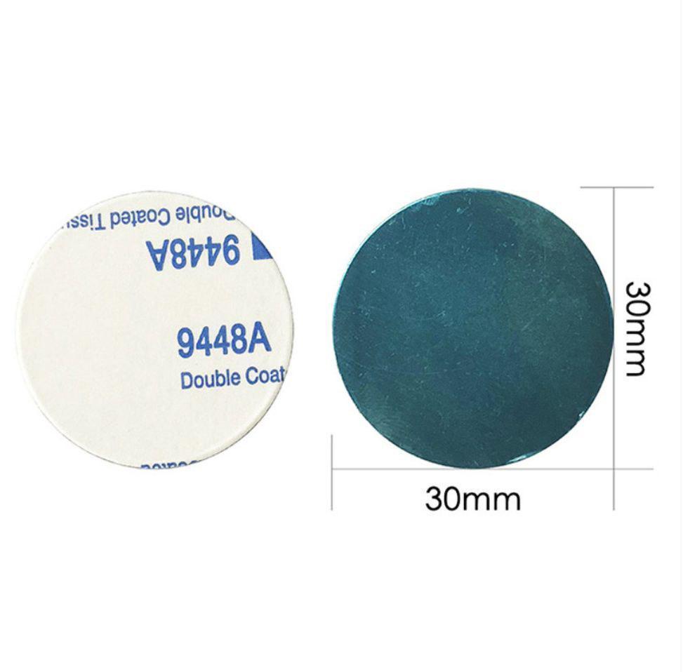 Пластина для магнитного автомобильного держателя круглая 30 мм серебристая