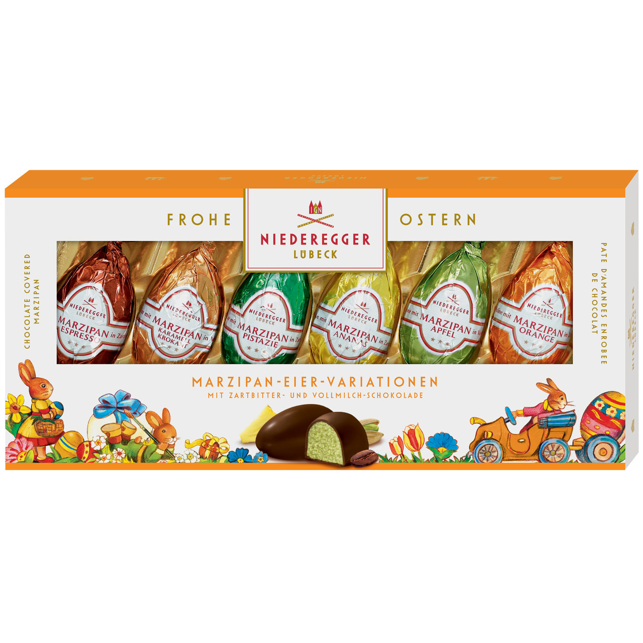 Марципан Niederegger Lubeck Marzipan Eier Variationen 100 g