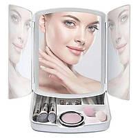 Косметичне Дзеркало Органайзер My Foldaway Mirror Дзеркало з Підсвічуванням, фото 1